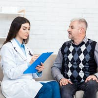 Prescription from therapist, recommendations and help from doctor and treatment of disease
