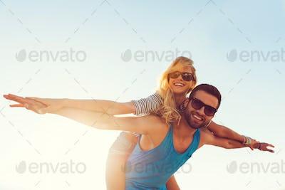 High flying romance.