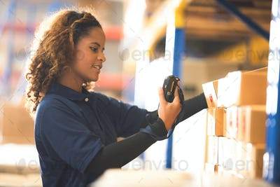 worker person working in warehouse, logistic transportation shipping industry
