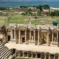 Roman amphitheater in the ruins of Hierapolis, in Pamukkale, Turkey