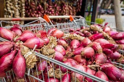 Tropea city, red onion