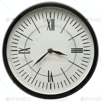 Classic white wall clock
