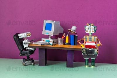Robotics automation process of office business.