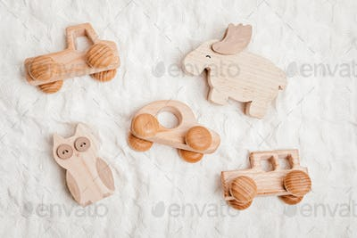 Eco fiendly child wooden toys. Sustainable, developmental, sensory toys for babies and toddlers