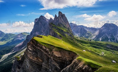 Amazing views in the Dolomites mountains
