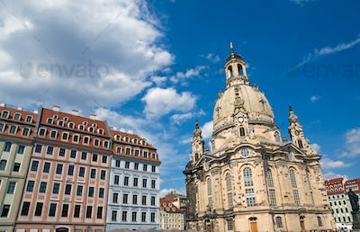 Old beautiful houses around the Frauenkirche