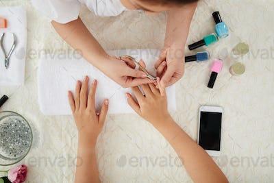 Cutting cuticle