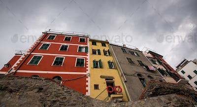 Colorful houses at the village of Manarola Cinque Terre, Liguria, Italy
