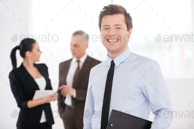 Confident young businessman.