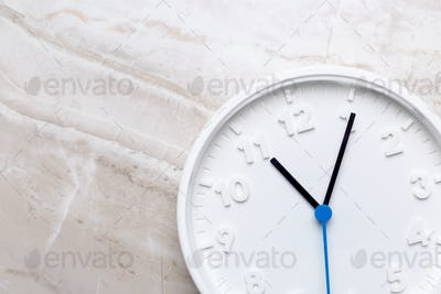 Wall Clock on color background. Creative Photo