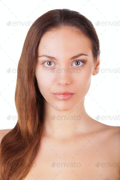Half face make-up.