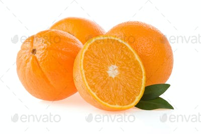 orange fruit and slices