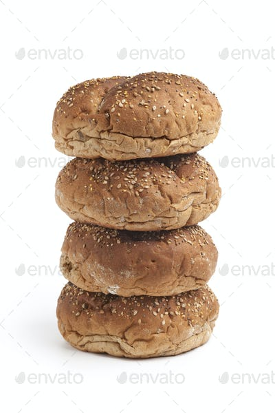 Fresh Multi grain bread rolls on a pile