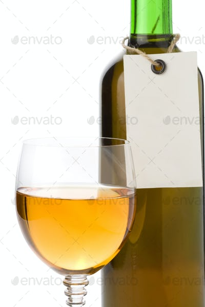 wine in glass and tag price