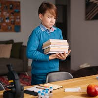 Preteen boy, Education and distance learning