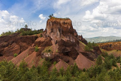 Volcanic Crater wall in Racos, Brasov county, Romania