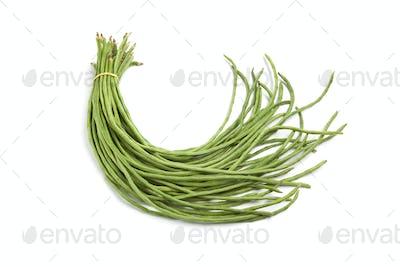 Bundle of fresh Chinese long beans