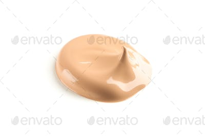 Cosmetic makeup cream isolated on white background