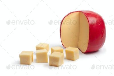 Dutch Edam cheese cubes