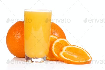 tasty orange on white