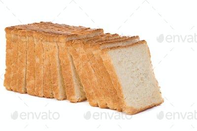 sliced bread on white