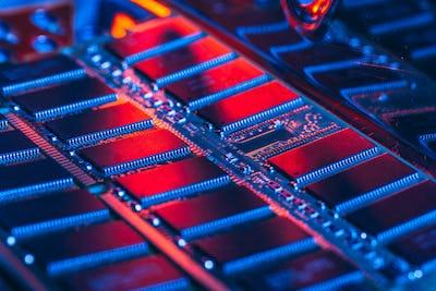 computer random access memory RAM close up