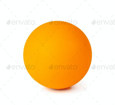 Table tennis ball isolated on white background