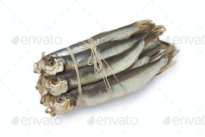 Bunch of smoked pearlsides fishes