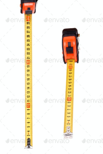 black and yellow tape measure