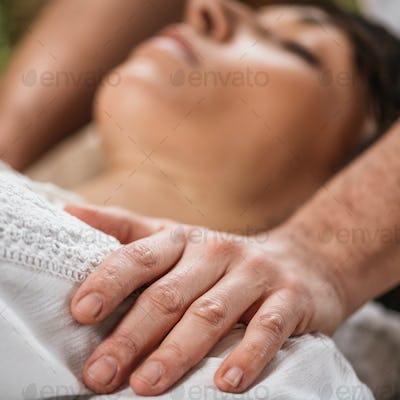 Thai Healing Massage - Energy work between Practitioner and Client