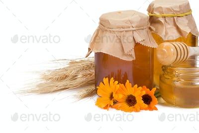 glass full of honey
