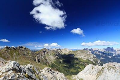 Dolomites landscape on summer
