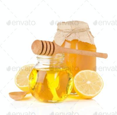 jar full of honey and lemon