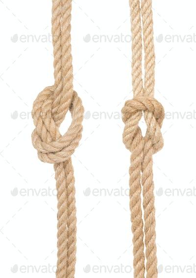 ship ropes isolated on white