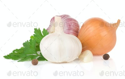 garlics and food ingredients spice