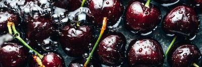 Macro of Fresh cherries