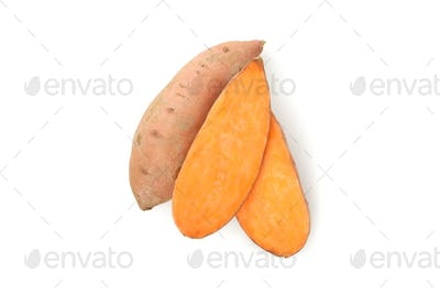 Sweet potato isolated on white background. Vegetables