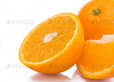 oranges fruit isolated on white