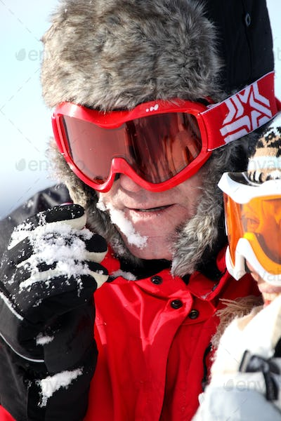 portrait of skier