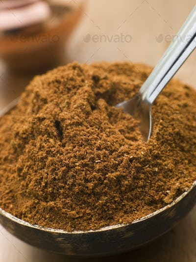 Dish of Tikka Masala Powder