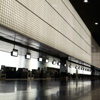 Empty airport hall.