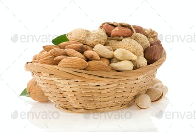 set of nuts isolated on white