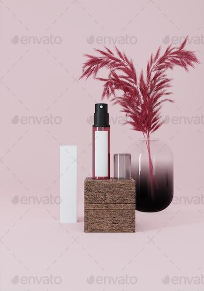 A spray tube for medicine or cosmetics.