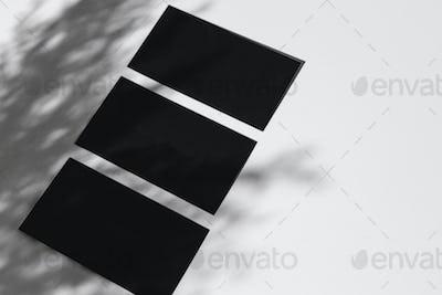 Dark photo of business identity template mockup
