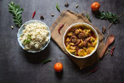 Kadhi chawal a North Indian dish