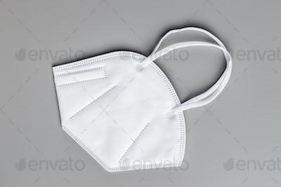 Protective face mask. KN95 respirator. Coronavirus protection. Covid-19 protection.