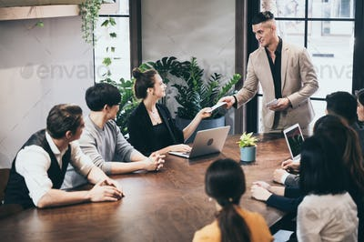 Corporate business team work and manager in a meeting room for conference, brainstroming and sharing