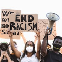 Activist movement protesting against racism and fighting for equality