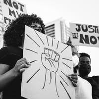 Black lives matter international activist movement protesting against racism
