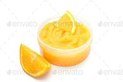 Skin care scrub isolated on white background